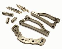 Billet Machined Rear Upper Suspension Arm Conversion for Losi 5ive-T