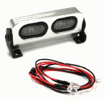 Realistic T1 Adjustable Spot Light Bar (2) w/ LED for 1/10 & 1/8 Scale