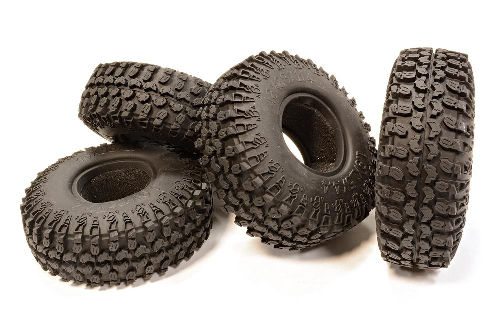 1 9 size all terrain 4 off road tires tire type w o d 114mm for r c or rc team integy. Black Bedroom Furniture Sets. Home Design Ideas