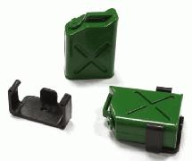 Realistic Jerry Can Gas Fuel Tank (2) w/ Bracket for 1/10 Scale Rock Crawler