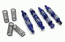 Billet Shock Set (4) for SCX-10 Dingo, Honcho & Jeep (L=72mm)