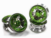 2.2 Size Alloy D5H Spoke Beadlock Wheel(4) w/ Weighted Fronts for Crawler W=30mm