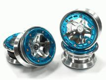2.2 Size Alloy D5P Spoke Beadlock Wheel(4) w/ Weighted Fronts for Crawler W=30mm