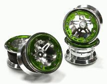 2.2 Size Alloy D5P Spoke Beadlock Wheel(4) w/ Weighted Fronts for Crawler W=36mm