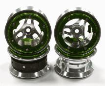 2.2 Size Alloy D3P Spoke Beadlock Wheel(4) w/ Weighted Fronts for Crawler W=36mm