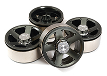 High Mass 1.9 Size Alloy 5 Spoke Beadlock Wheel (4) for Scale Off-Road Crawler