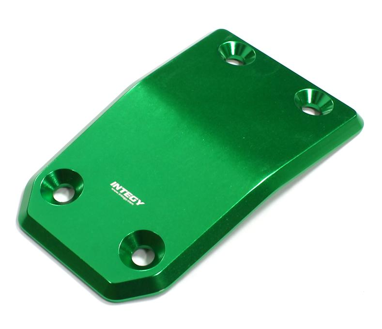 Integy C25118GREEN Billet Machined Rear Skid Plate for Losi 5ive-T