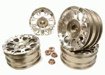 Realistic 1.9 Size X8U Alloy Wheel (4)+M4 Nut for Scale Off-Road Crawler