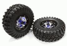 V2 Alloy 6 Spoke Type S3 1.9 Size Wheel & Tire (2) for Scale Crawler (OD=106mm)
