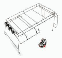 Realistic Outer Roll Cage w/ LED Spot Lights for 1/10 D90 Scale Body