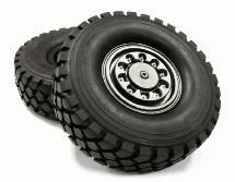 High Mass Alloy Beadlock Wheel & Tire Style B for Scale 1/10 Crawler (OD=126mm)