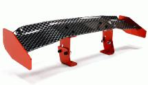Realistic Alloy Rear Wing 165mm w/ Adj. Mount for 1/10 Size Drift & Touring Car