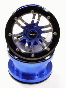 Billet Machined D6Type Spoke Off-Road 2.2 Size Wheel Set (2) for Rock Crawler