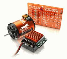 SkyRC Cheetah 1/10 60A Brushless ESC Sensored 1600Kv 21.5T Motor Combo Set