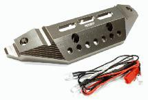Billet Machined Alloy Front Bumper w/LED Lights for Traxxas 1/10 Summit Off-Road