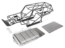 Realistic T2 Steel Roll Cage w/ Luggage Tray for Axial Wraith