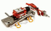 Alloy Machined Realistic High Torque Winch+Bumper for SCX-10