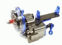 Billet Machined Main Gearbox w/Remote Locking Dig Unit for Axial 1/10 Wraith 2.2