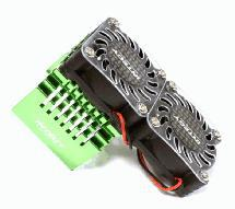 Twin 40x40mm HS Cooling Fan+Heatsink Mount for 40mm O.D. Motor