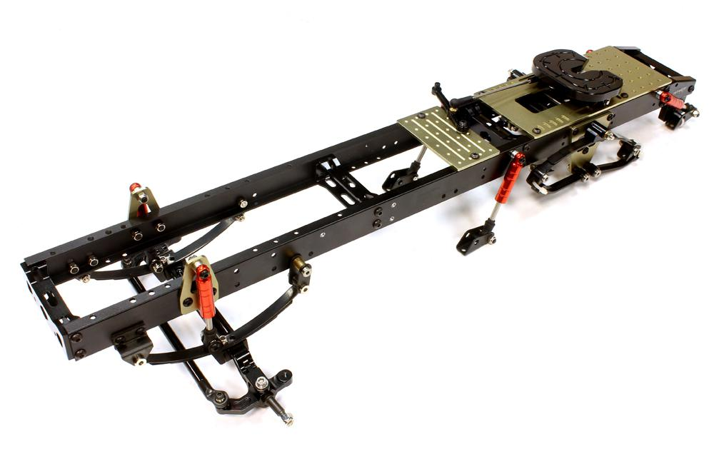 Ladder Frame Chassis Assembly w/ Front Axle for Custom 1/14 Semi ...