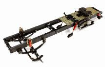 Ladder Frame Chassis Assembly w/ Front Axle for Custom 1/14 Semi-Tractor Truck