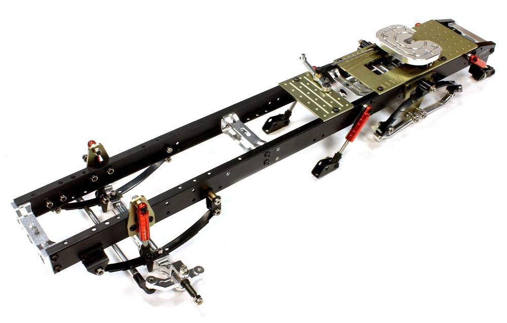 C25745SILVER Ladder Frame Chassis Assembly w/F. Axle for 1/14 Semi ...