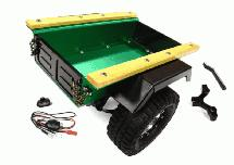 Realistic Leaf Spring 1/10 Size Utility Box Trailer for Scale Crawler Truck