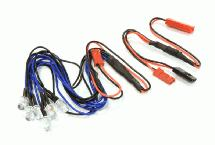 LED Light 6pcs w/ Extended Wire Harness to Receiver