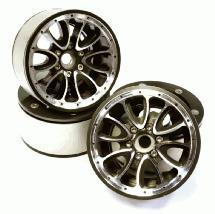 Billet Machined High Mass 12 Spoke 2.2 Size Wheel (4) for 1/10 Rock Crawler