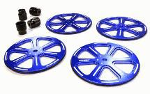 Professional 61mm Setup Wheel (4) for 1/10 Size Touring Car & Drift Car