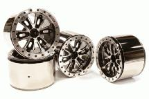 Billet Machined T2 High Mass 2.2 Wheel (4) for Axial 1/10 Yeti Rock Racer