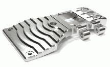 Billet Machined Lower Front Arm Mount Skid Plate for Tamiya Scale Off-Road CC01