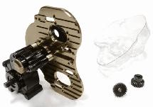 Billet Machined Twin Motor Type Complete Center Gearbox for Axial 1/10 SCX-10