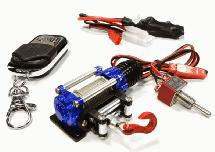 Billet Machined T11 Realistic High Torque Winch w/ Remote for Scale Crawler 1/10