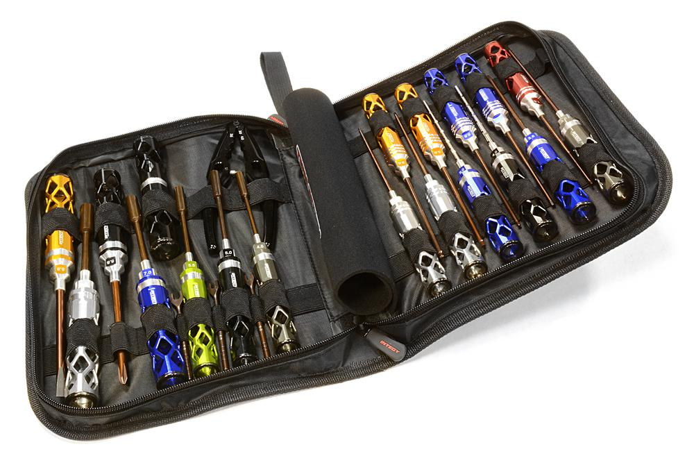 Metric Size 23pcs Competition Tool Set w/ Carrying Bag for 1/10 Off-Road