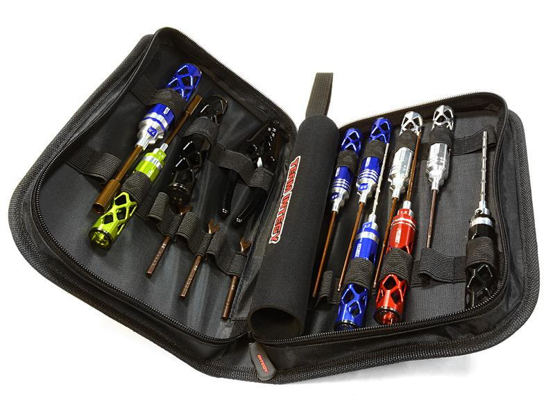 14pcs Competition Tool Set W Carrying Bag For 1 10 Touring Car