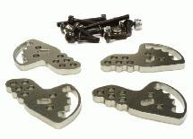 Billet Machined Adjustable Shock Mount Plate (4) for Axial 1/10 SCX-10 Crawler
