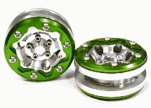 Billet Machined 6H Spoke Type ST Off-Road 1.9 Size Wheel (2) for Scale Crawler