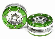 Billet Machined 10 Spoke Type 2A Off-Road 1.9 Size Wheel (2) for Scale Crawler