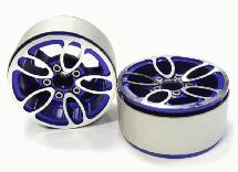 Billet Machined 5 Spoke Type DU Off-Road 1.9 Size Wheel (2) for Scale Crawler