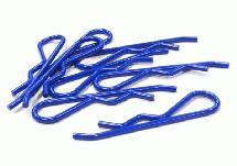 Color Bent-Up Body Clips (8) for 1/5 & 1/4 Size Vehicles(LxW=46x11mm)