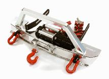 Realistic High Torque Winch w/ Scale Front Bumper for Axial 1/10 SCX-10