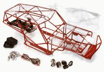 Realistic T3 Steel Roll Cage Tube Frame Chassis Set for 1/10 Scale Wraith 2.2