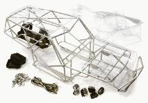 Realistic T3 Steel Roll Cage Tube Frame Chassis Set for Axial 1/10 Scale Wraith