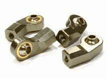 Billet Machined Angled Ball End (4) 3mm Size for 1/10 Size Vehicle