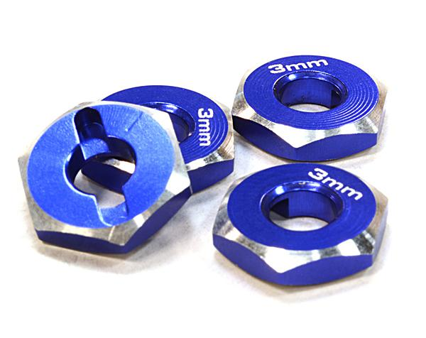 12mm Hex Wheel (4) Hub 3mm Thick for 1/10 Traxxas, Axial, Tamiya, TC & Drift