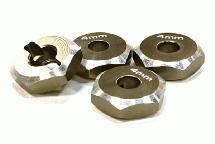 12mm Hex Wheel (4) Hub 4mm Thick for 1/10 Axial, Tamiya, TC & Drift