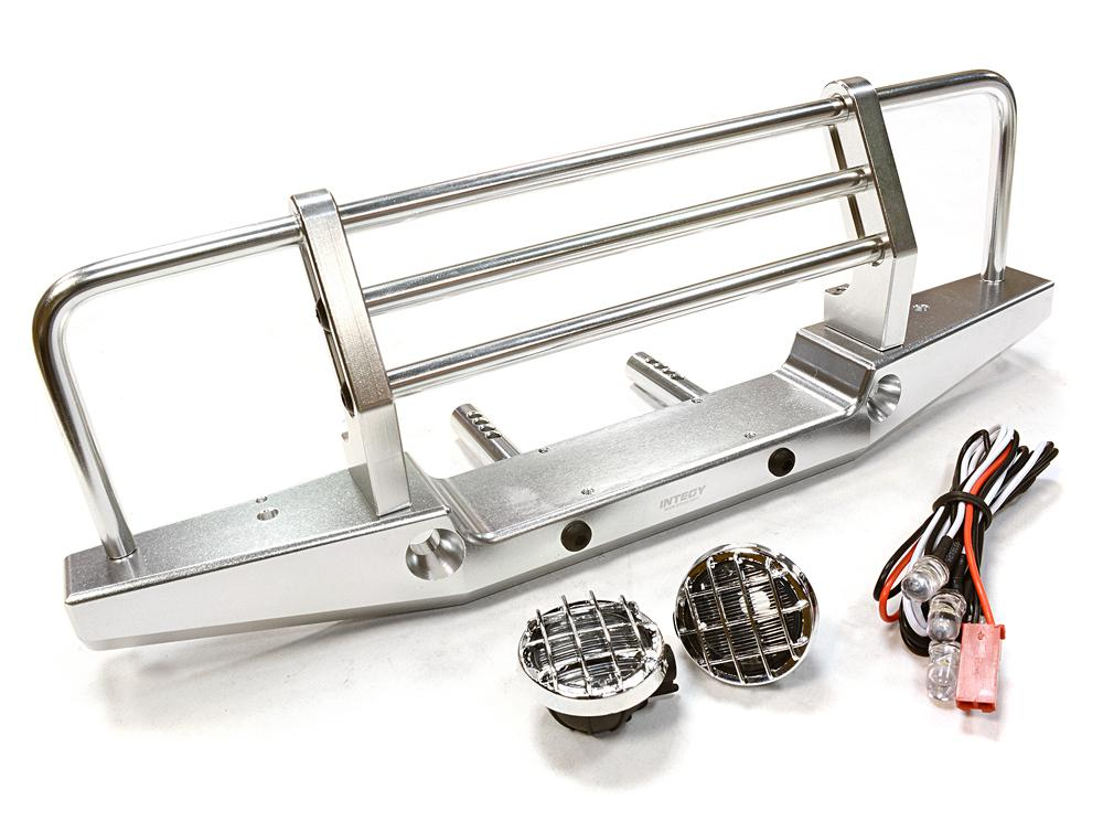 43mm Mount With For Axial Metal Scx Realistic Front 10 Bumper Led TclFK31J
