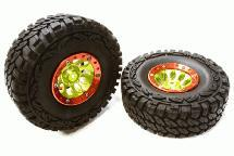 10H Composite 1.9 Wheel w/ Alloy Ring & Tire (2) for Scale Crawler (O.D.=113mm)