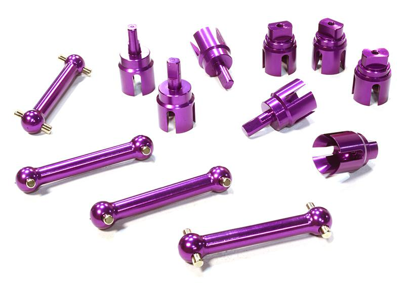 Billet Machined Alloy Dog Bone (4) for HPI 1/10 Scale E10 On-Road